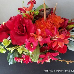 The Rose Cattail and Lotus Pod Centerpiece